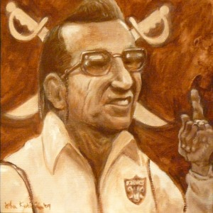 Portrait of Al Davis by John Kurien