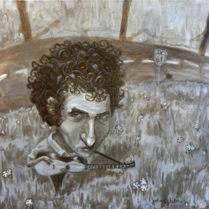 Portrait of Bob Dylan by John Kurien