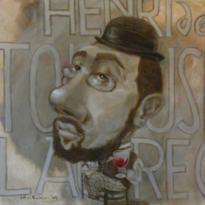 Portrait of Henri de Toulouse-Lautrec by John Kurien