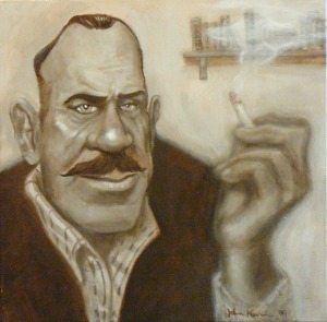 Portrait of John Steinbeck by John Kurien