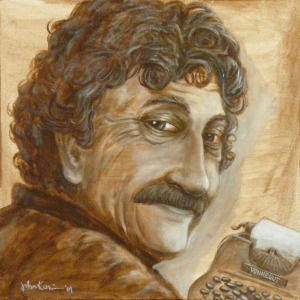 Portrait of Kurt Vonnegut by John Kurien